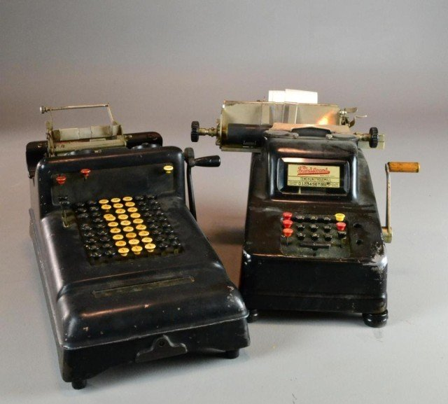 (3) TWO ADDING MACHINES & ONE EDIPHONE