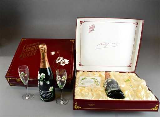(2) PERRIER JOUET CHAMPAGNE GIFT SETS