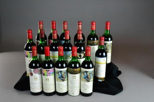 (17) BOTTLES OF CHATEAU MOUTON ROTHSCHILD