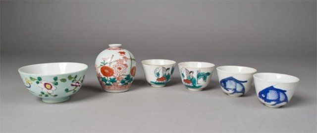 5: (6) Pieces Japanese Porcelain
