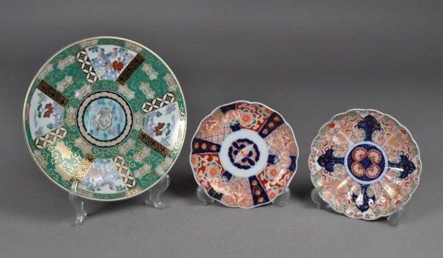 6: (3) Japanese Imari Porcelain Plates