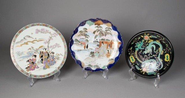 14: (3) Pieces Japanese Porcelain