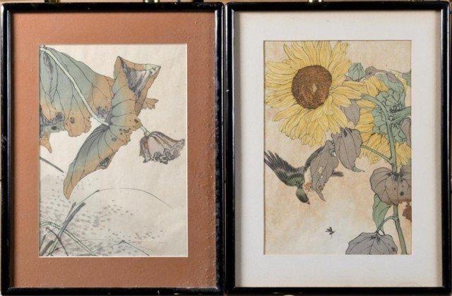 20: (2) Japanese Woodblock Prints