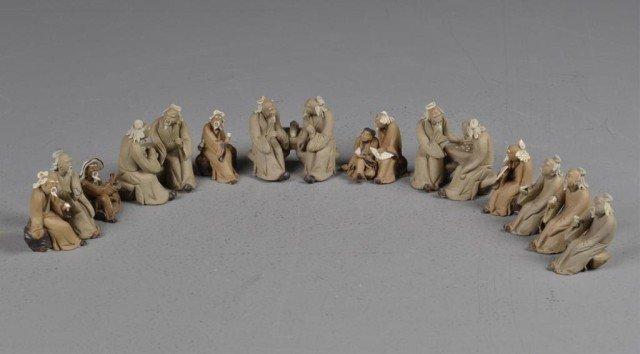 541: (16)Chinese Miniature Mud men