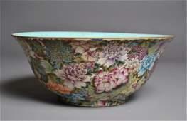 693 Large Chinese Famille Verte Bowl