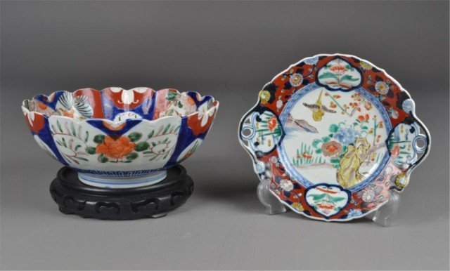 3: (2) Pcs. Japanese Imrai Porcelain