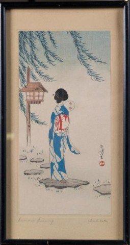 25: Japanese Woodblock Print