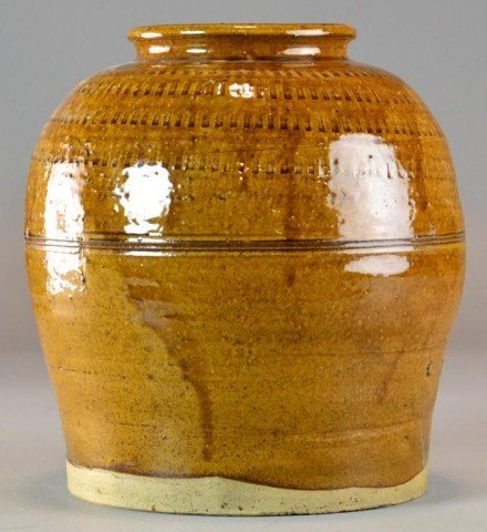 7: Chinese Brown Glaze Storage Jar