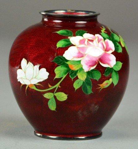 17: A Fine Japanese Cloisonné Vase