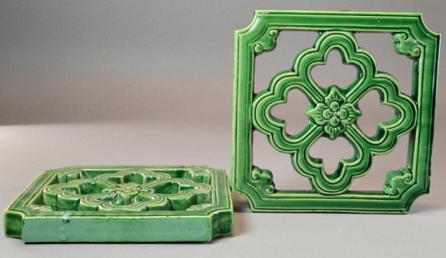 21: Pr. Chinese Green Glazed Wall Tiles
