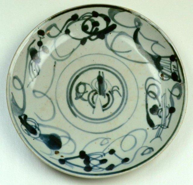 24: Chinese Ming Wan Li Porcelain Plate