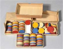 224: (3) Boxes of American Poker Chips