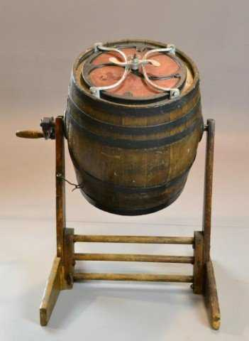 248 Antique Barrel Butter Churn With Stand