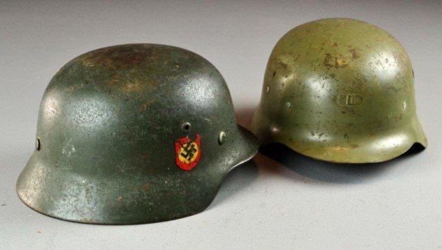 320: (2) Military Nazi Helments WWII