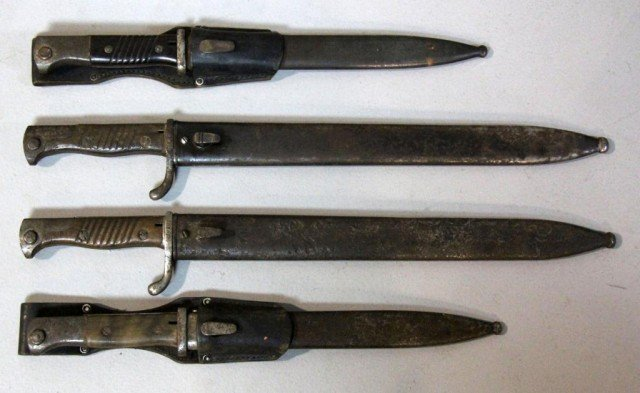 348: (4)  Military  Bayonets WWII