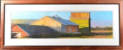 478: Edwar Woddc, Large Framed Farm Print