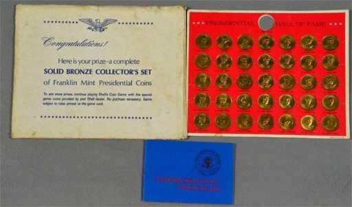 franklin mint bronze presidential coins