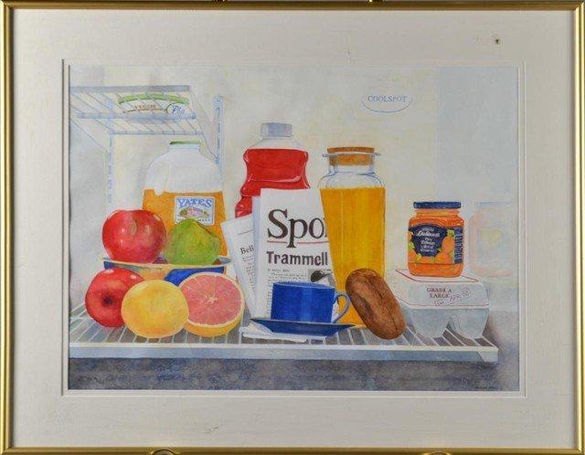 712: Midge Mills, Watercolor Painting on Paper