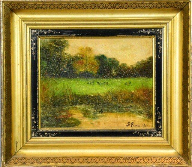 714: George Innes Oil Painting On Wood Panel