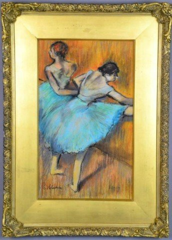 "715: Suzanne Vadadon Pastel On Paper ""Homage To Degas"""