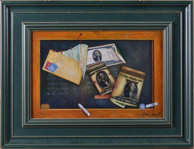 723: Manner of Otis Kaye, Oil Painting on Canvas