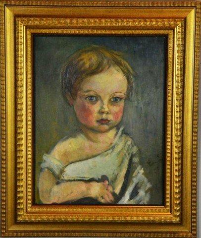 731: Attributed Everett Shinn Posible Portrait Of Artis