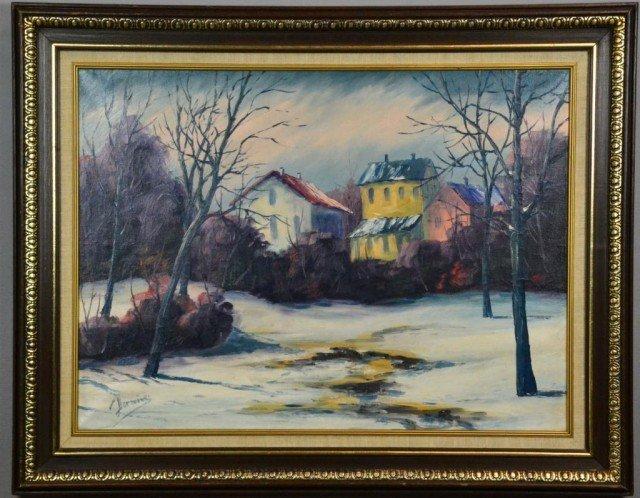 733: Robin Darwin Landscape Oil On Canvas