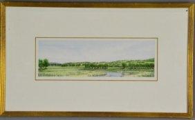 Anne Burkholder Watercolor & Ink Landscape
