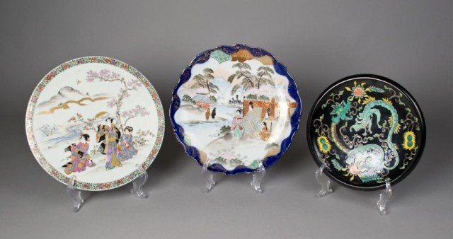14: (3) Pieces Japanese Porcelain