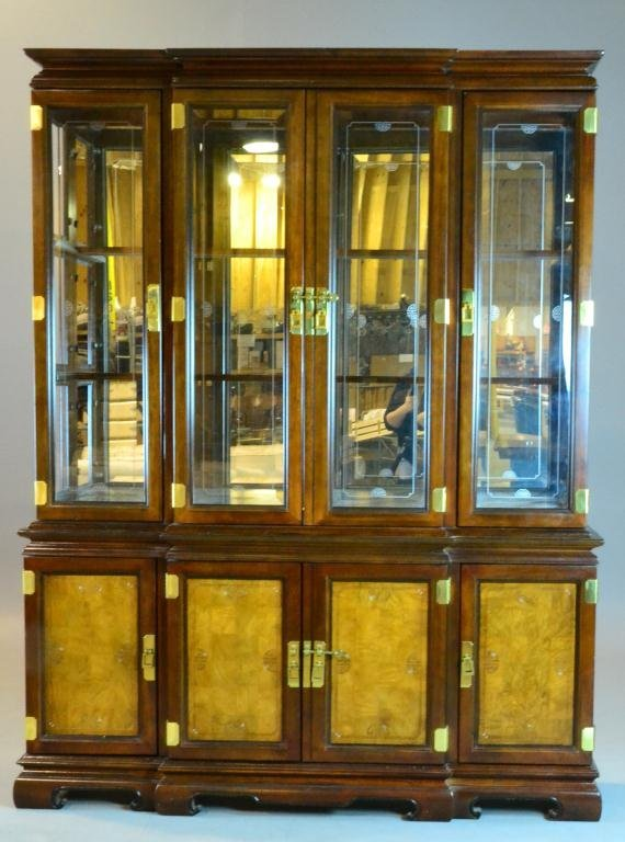 5: (2) Piece Asian Taste China Cabinet With Hutch