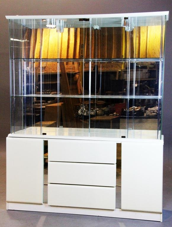 19: Ivory and Glass Contemporary Display Case