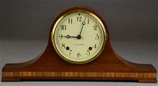 415: Inlaid Mahogany Seth Thomas Mantle Clock
