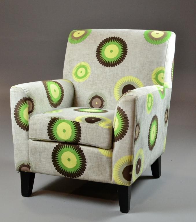 471: Velveteen 60's Retro Side Chair