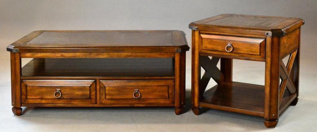 475: (2) Pcs. Arts & Crafts Style A.R.T. Copper Tables