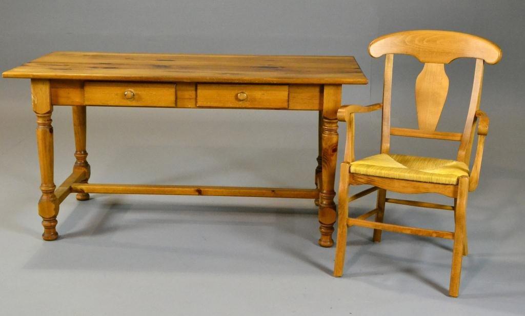 477: Eddie Bauer Pine Desk & Matching Chair