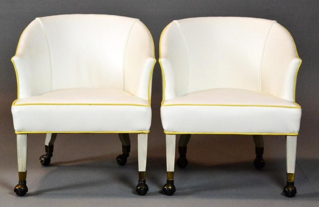478: Pr. Mid Century Hollywood Regency Arm Chairs