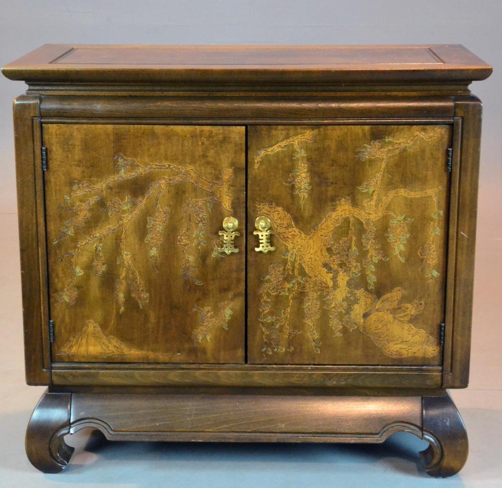 479: Two Door Asian Taste Hardwood Cabinet