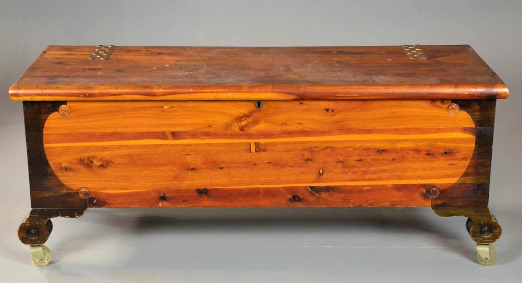 482: LARGE CEDAR CHEST ON CASTERS