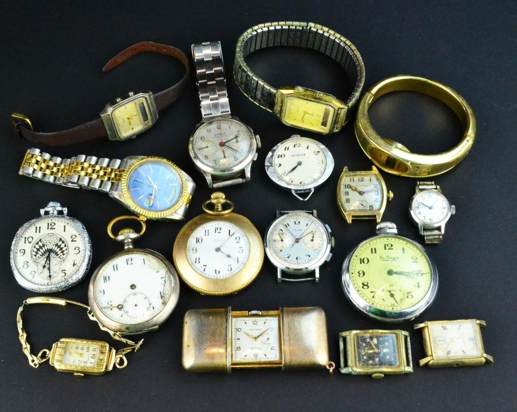 657: (17) Collector's Lot of Pocket & Wrist Watches