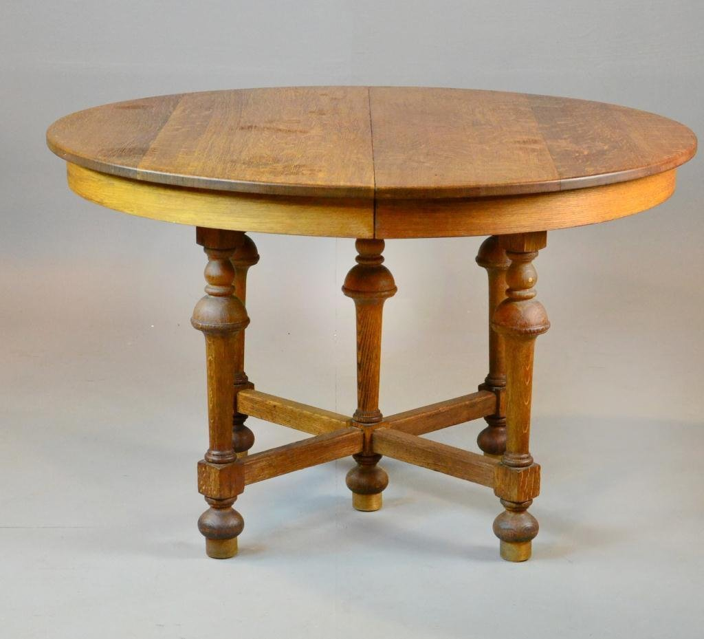 12A: Stickley Brothers Oak Dinning Table