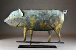 An American Copper Pig Weathervane