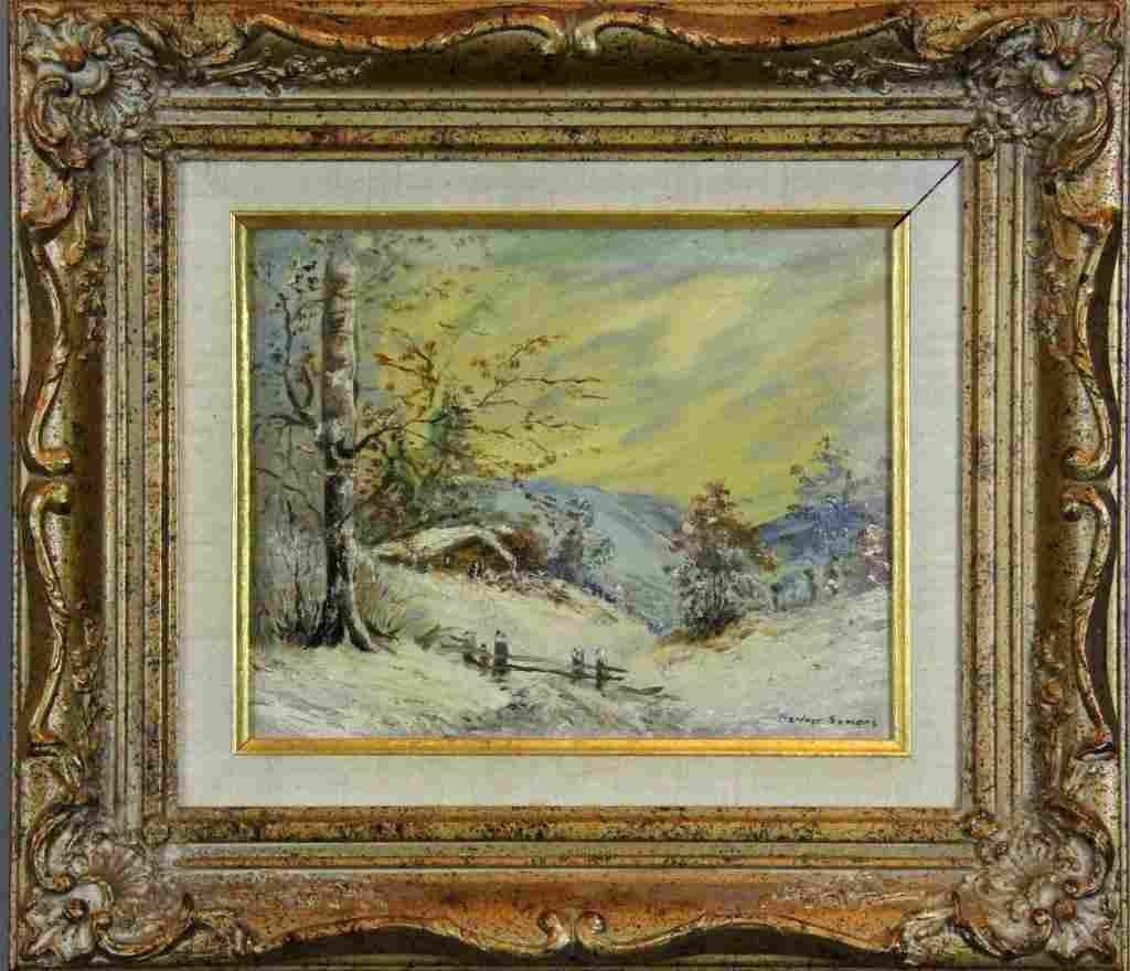 185: George Gardner Symons Oil Painting On Board