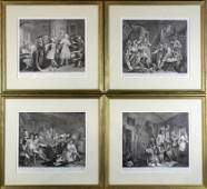 302A 4 William Hogarth Etchings On Paper