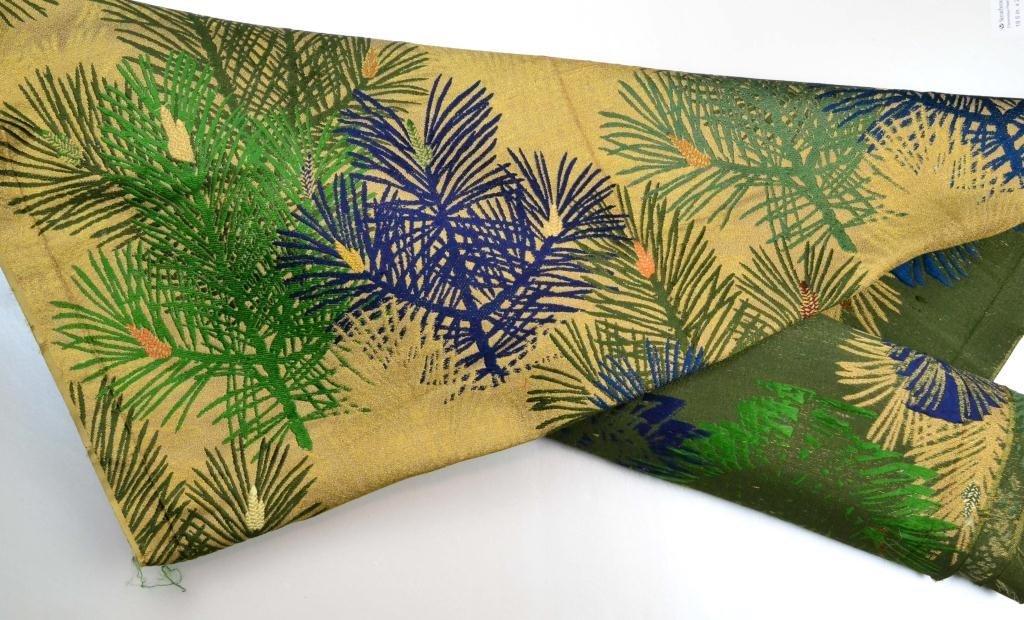 5: (2) Pcs. Japanese Obi Silk Material