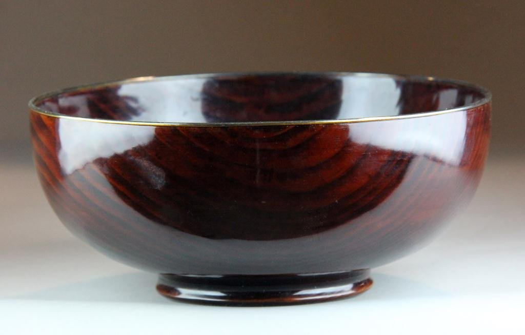 14: A Japanese Silver Mounted Lacquer Bowl -Meiji Perio