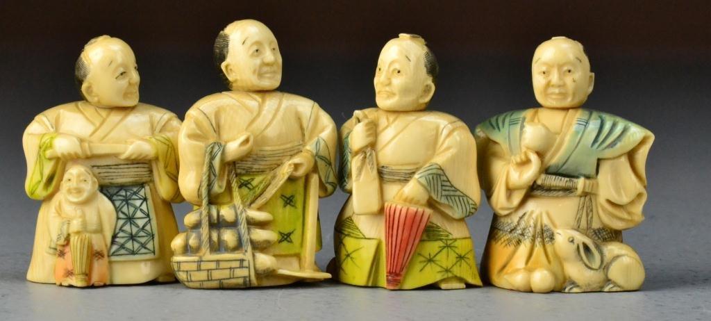 28: (4) Japanese Ivory Netsuke
