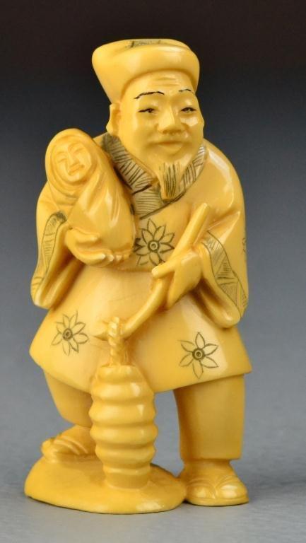 29: Japanese Carved Ivory Okimono