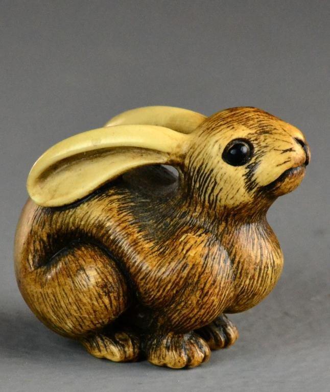 30: Japanese Carved Ivory Netsuke Meiji Period