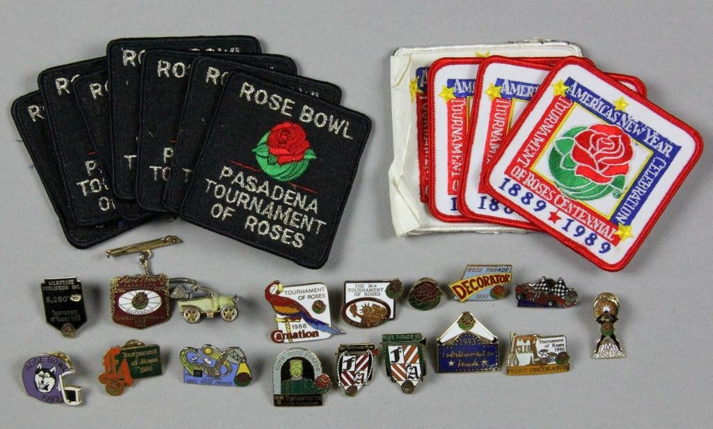 2: (42) 31 Rose Bowl Pins & 11 Patches