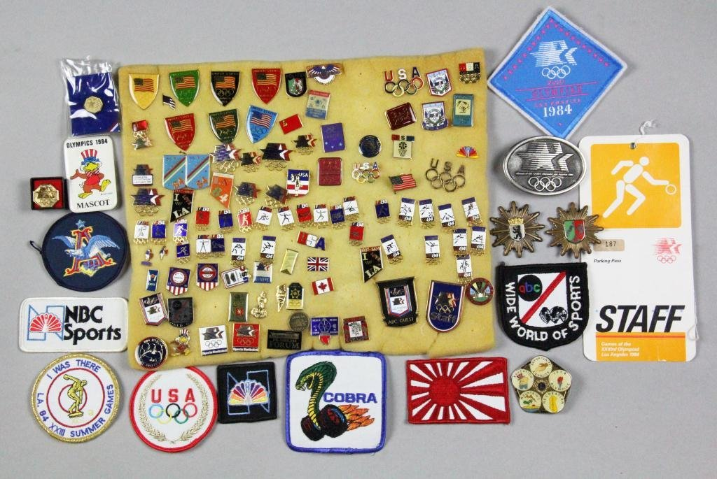 9: (180) 1984 Olympic Pins, Patches, Etc.